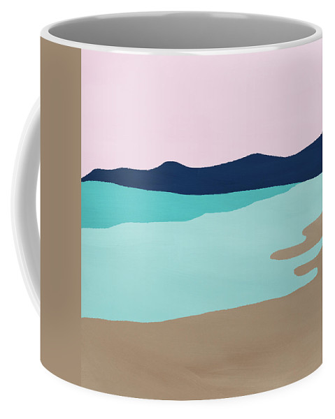 Beach Coffee Mug featuring the mixed media Beach Cove- Art by Linda Woods by Linda Woods