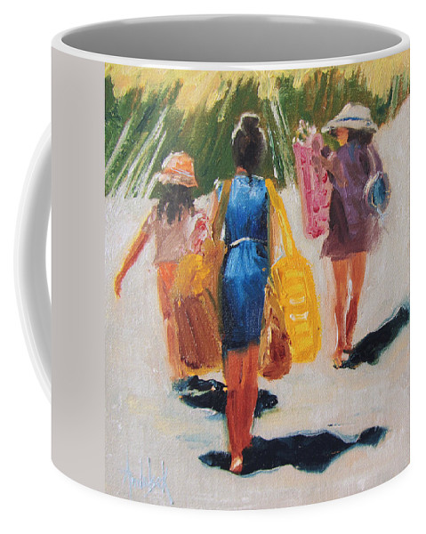 Nature Coffee Mug featuring the painting Beach Day by Barbara Andolsek
