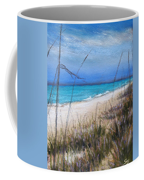 Beach Coffee Mug featuring the pastel Beach Dreaming by Susan Jenkins
