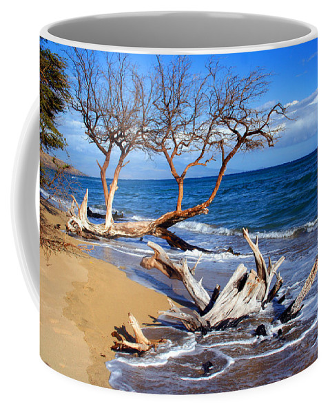 Beach Coffee Mug featuring the photograph Beach Driftwood Fine Art Photography by James BO Insogna