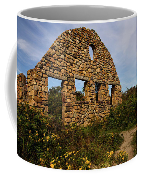 Beach Front Home Coffee Mug featuring the photograph Beach Front by Karol Livote