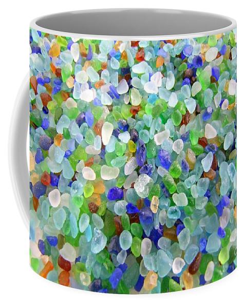 Beach Glass Coffee Mug featuring the photograph Beach Glass by Mary Deal