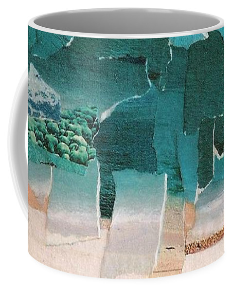 Landscape Coffee Mug featuring the painting Beach by Kathy Augustine