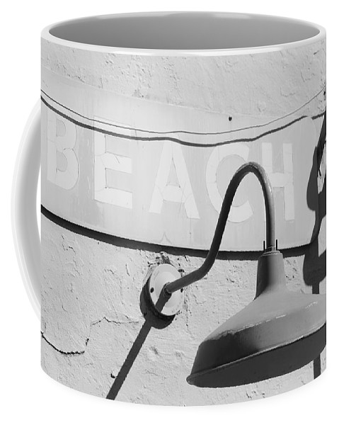 Black And White Coffee Mug featuring the photograph Beach Light by Rob Hans