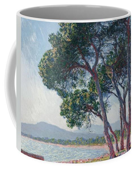 Claude Monet - Beach Of Juan-les-pins - 1888. Coffee Mug featuring the digital art Beach by Mark Carlson
