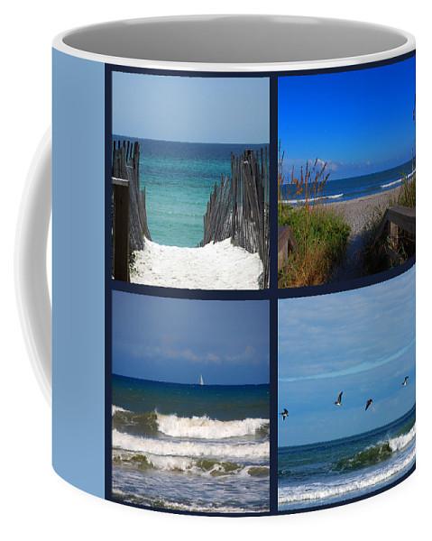 Beach Coffee Mug featuring the photograph Beach Multiples by Susanne Van Hulst