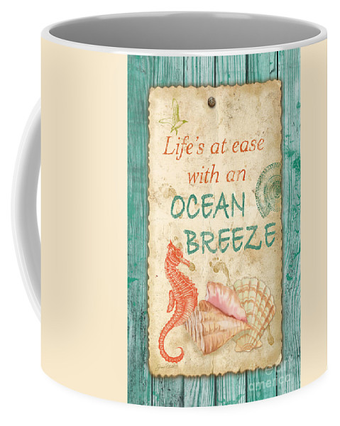Digital Art Coffee Mug featuring the painting Beach Notes-jp3763 by Jean Plout