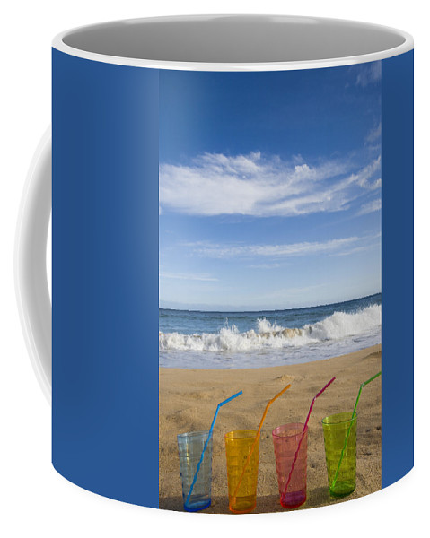 Color Coffee Mug featuring the photograph Beach Party by Karen Ulvestad