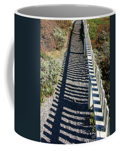Half Moon Bay Coffee Mug featuring the photograph Beach Path by Carol Groenen