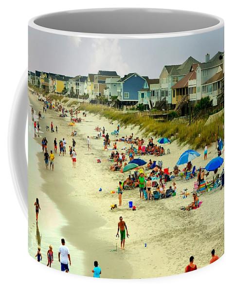 Beach Coffee Mug featuring the photograph Beach Play by Kathy Barney