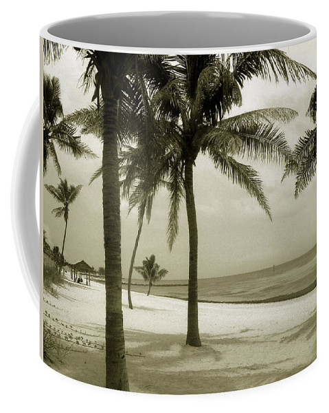 Beach Photo Coffee Mug featuring the photograph Beach Scene In Key West by Susanne Van Hulst