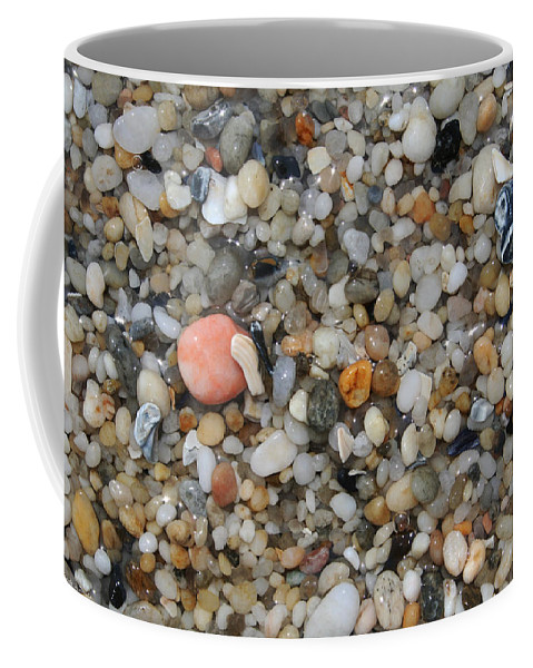 Beach Coffee Mug featuring the photograph Beach Stones by Linda Sannuti