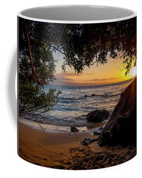 Sunset Coffee Mug featuring the photograph Beach Sunset by Daniel Murphy