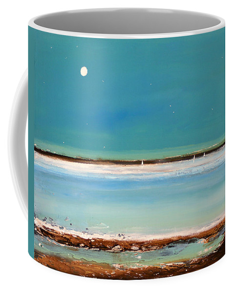 Landscape Coffee Mug featuring the painting Beach Textures by Toni Grote