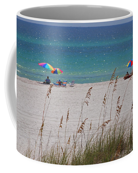 Gulf Of Mexico Coffee Mug featuring the photograph Beach Time At The Gulf - Before The Oil Spill Disaster by Susanne Van Hulst