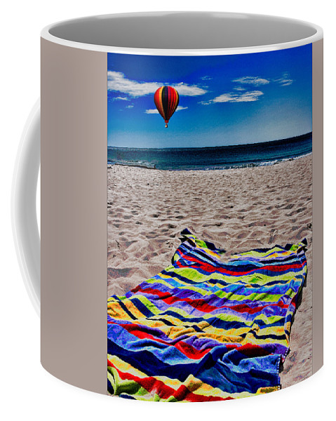 Beach Coffee Mug featuring the photograph Beach Towel by Chris Lord