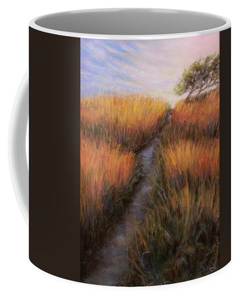 Landscape Coffee Mug featuring the painting Beach Trail by Susan Jenkins