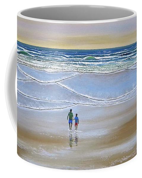 Beach Coffee Mug featuring the painting Beach Walk by Frank Wilson