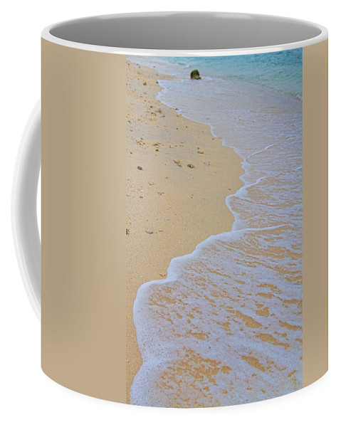 stock Images Coffee Mug featuring the photograph Beach Water Curves by James BO Insogna