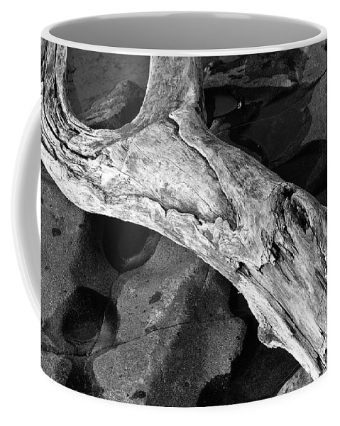 Black And White Coffee Mug featuring the photograph Beached by Bill Morgenstern