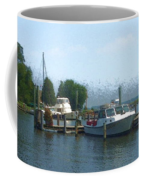 Boat Coffee Mug featuring the photograph Beached Buoys by Debbi Granruth