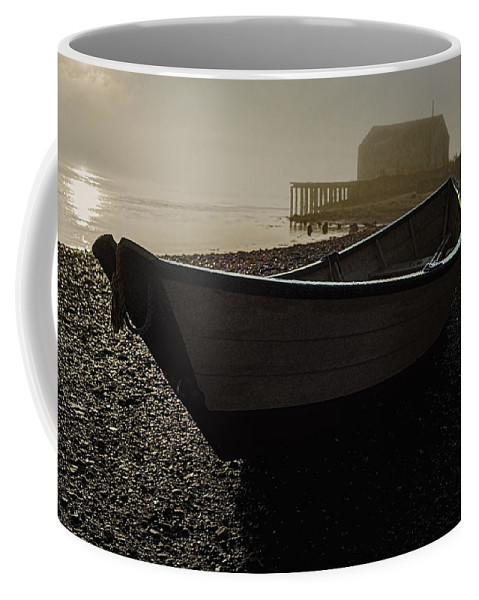 Beached Dory Coffee Mug featuring the photograph Beached Dory 2 by Marty Saccone