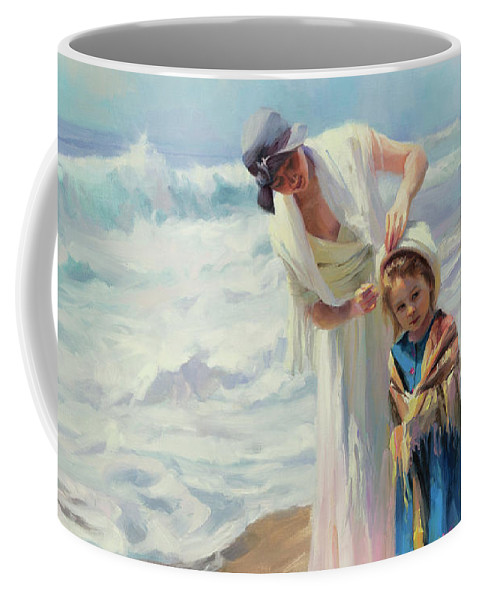 Beach Coffee Mug featuring the painting Beachside Diversions by Steve Henderson