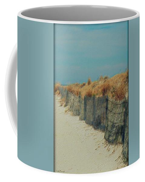 Beac Coffee Mug featuring the photograph Beachside by Linda Sannuti
