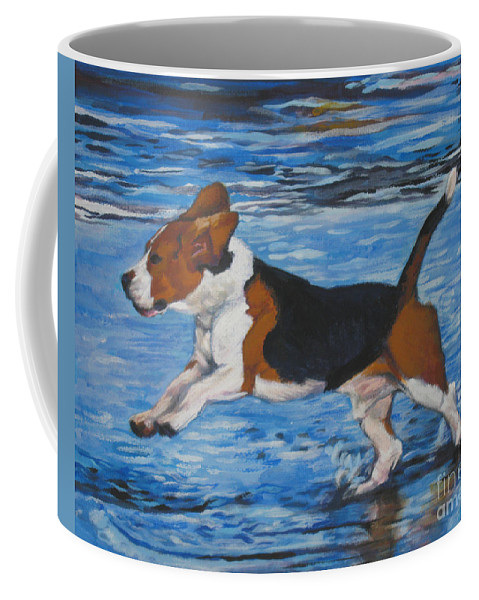Beagle Coffee Mug featuring the painting Beagle by Lee Ann Shepard