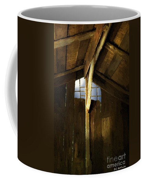 Barn Coffee Mug featuring the painting Beam Me Up by RC DeWinter