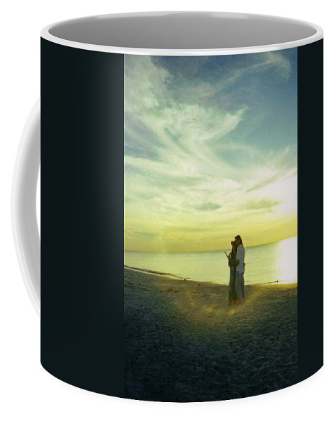 Sunset Coffee Mug featuring the photograph Beaming Love by Jean Haynes