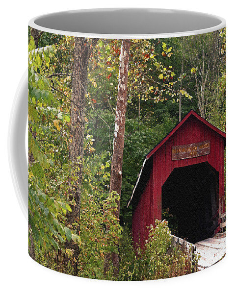 Covered Bridge Coffee Mug featuring the photograph Bean Blossom Bridge I by Margie Wildblood
