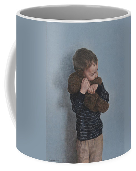 Coffee Mug featuring the drawing Bear Hug by Holly Bedrosian