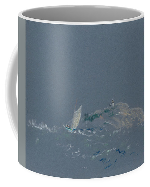 19th Century Art Coffee Mug featuring the pastel Bear Island Light by Arthur Bowen Davies