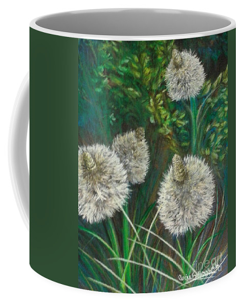Mountain Scenes Coffee Mug featuring the pastel Bear Paw Grass by Angie Sellars