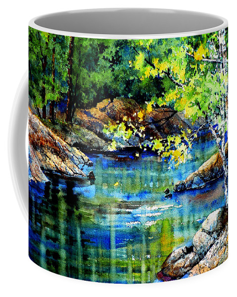 Landscape Painting Coffee Mug featuring the painting Bear Paw Stream by Hanne Lore Koehler