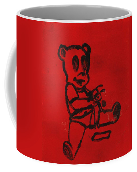 Clay Coffee Mug featuring the painting Bear by Thomas Valentine