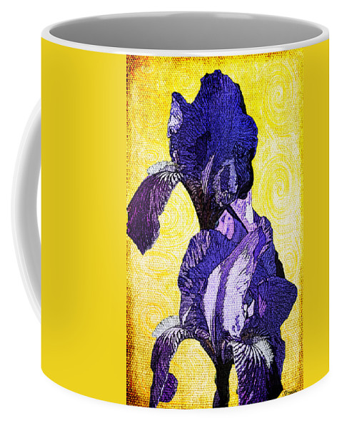 Bearded Coffee Mug featuring the photograph Bearded Iris by Teresa Mucha
