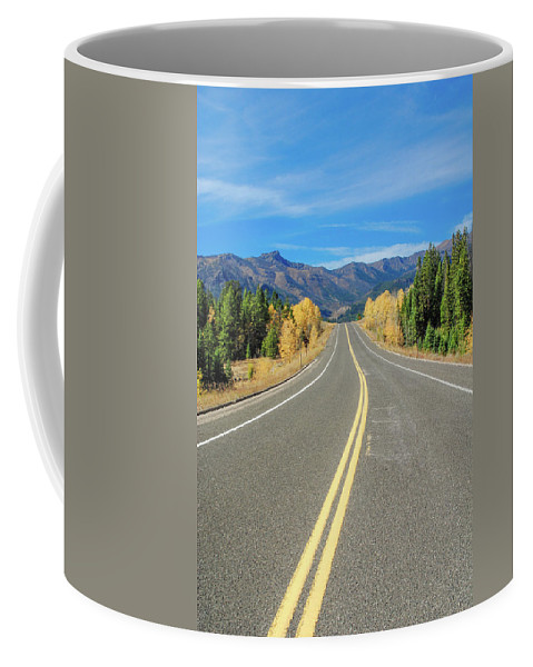 Beartooth Mountains Coffee Mug featuring the photograph Beartooth Mountain Road by Megan Martens