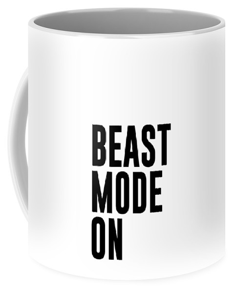 beast mode on gym quotes mini st print typography