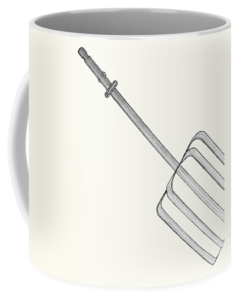 Beater Coffee Mug featuring the drawing Beat It by Jean Haynes