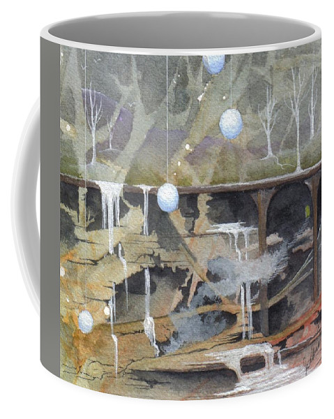 Fantasy Landscape Coffee Mug featuring the painting Beata's Destiny by Jackie Mueller-Jones