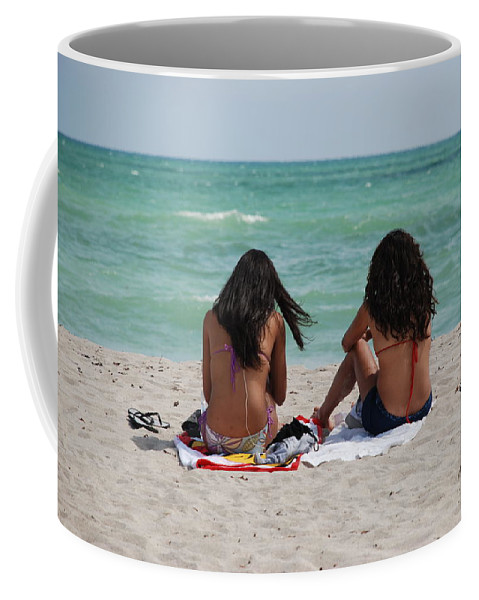 Women Coffee Mug featuring the photograph Beauties On The Beach by Rob Hans