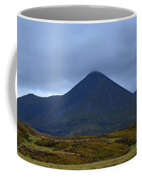 Cuillen-hills Coffee Mug featuring the photograph Beautiful Countryside In Cuillen Hills With A Large Mountain by DejaVu Designs
