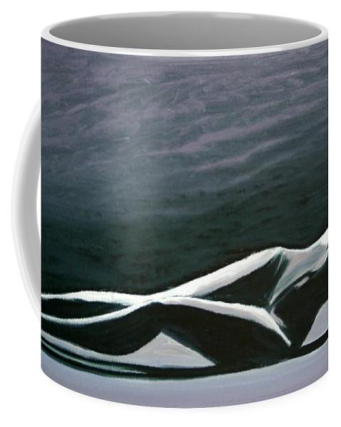 Art Coffee Mug featuring the painting Beautiful Diver by Jarmo Korhonen aka Jarko