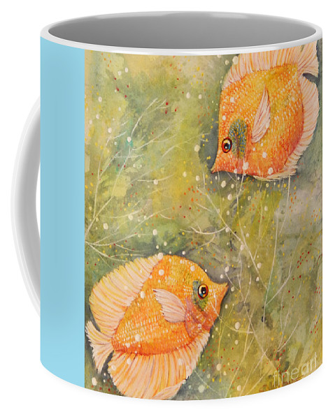 Top Artist Coffee Mug featuring the painting Beautiful Exotic Butterfly Fish by Sharon Nelson-Bianco