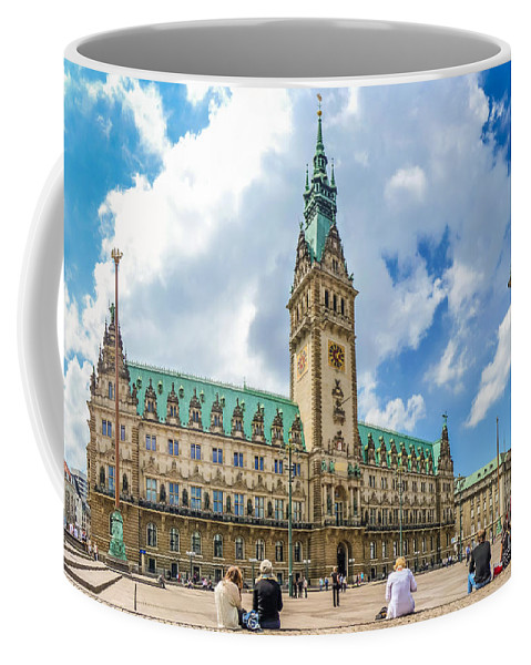 Rathausmarkt Coffee Mug featuring the photograph Beautiful Hamburg Town Hall by JR Photography