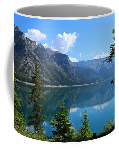 Banff Coffee Mug featuring the photograph Beautiful Lake Minnewanka by Christiane Schulze Art And Photography