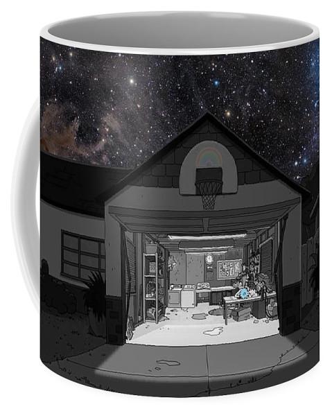 Beautiful Coffee Mug featuring the drawing Beautiful Night by Julian W