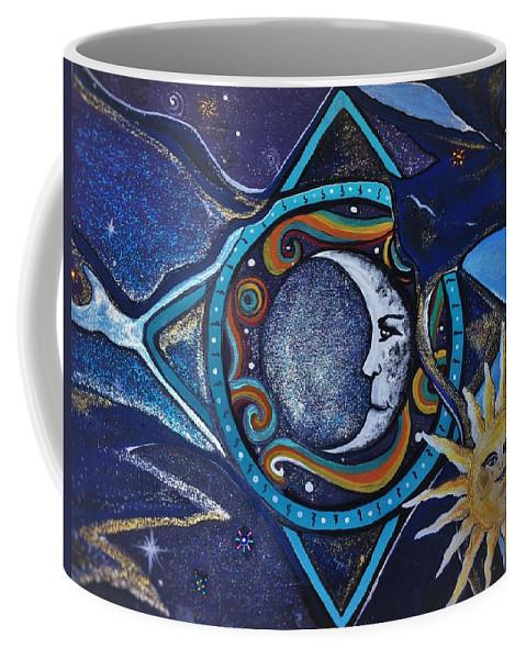 Sun Coffee Mug featuring the painting Beautiful Nightmare by Tracy Mcdurmon